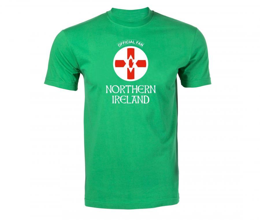 T-shirt Fan Northern Ireland Vert