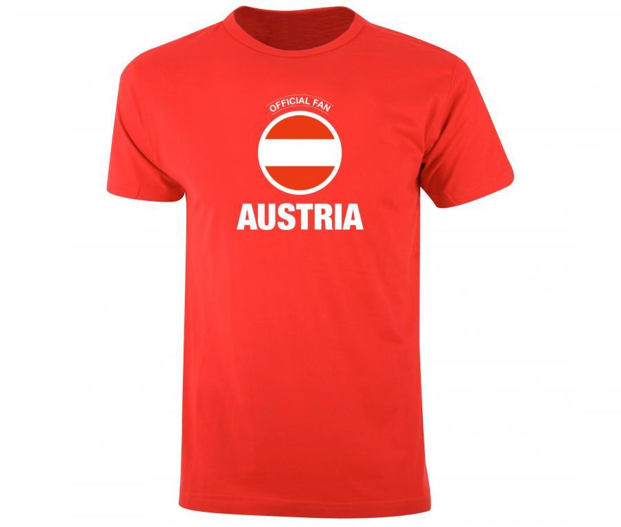 T-shirt Fan Austria Rouge