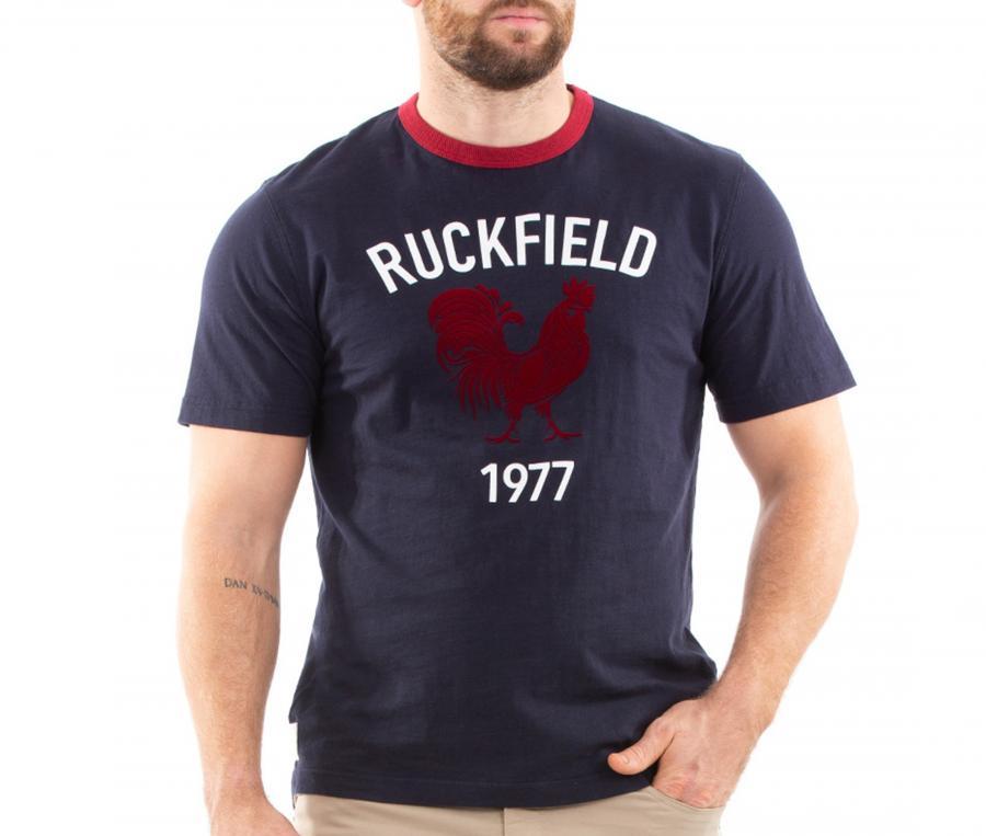 T-shirt Ruckfield Rugby Vintage Bleu