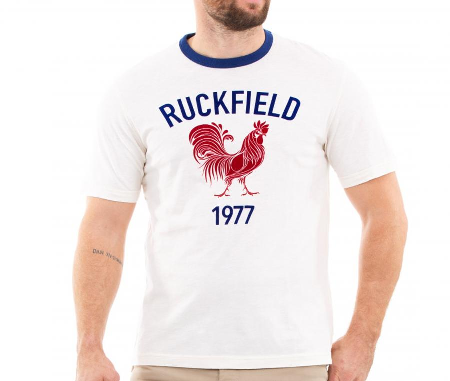 T-shirt Ruckfield Rugby Vintage Blanc