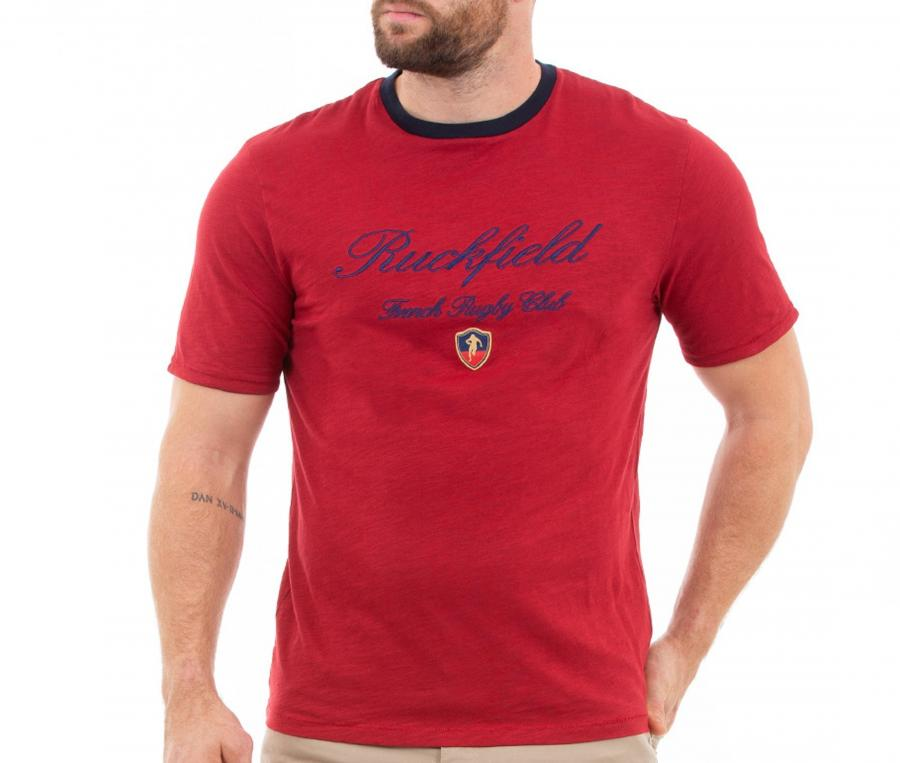 T-shirt Ruckfield French Rugby Club Rouge