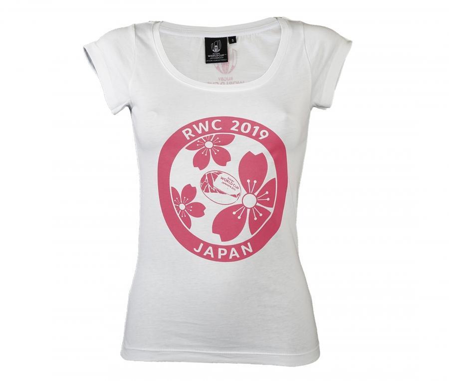T-shirt Coupe du Monde de Rugby 2019 Blanc Femme