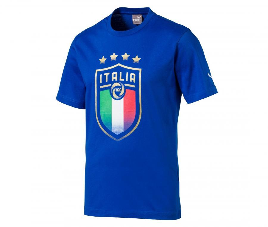 T-shirt Italie Badge Bleu