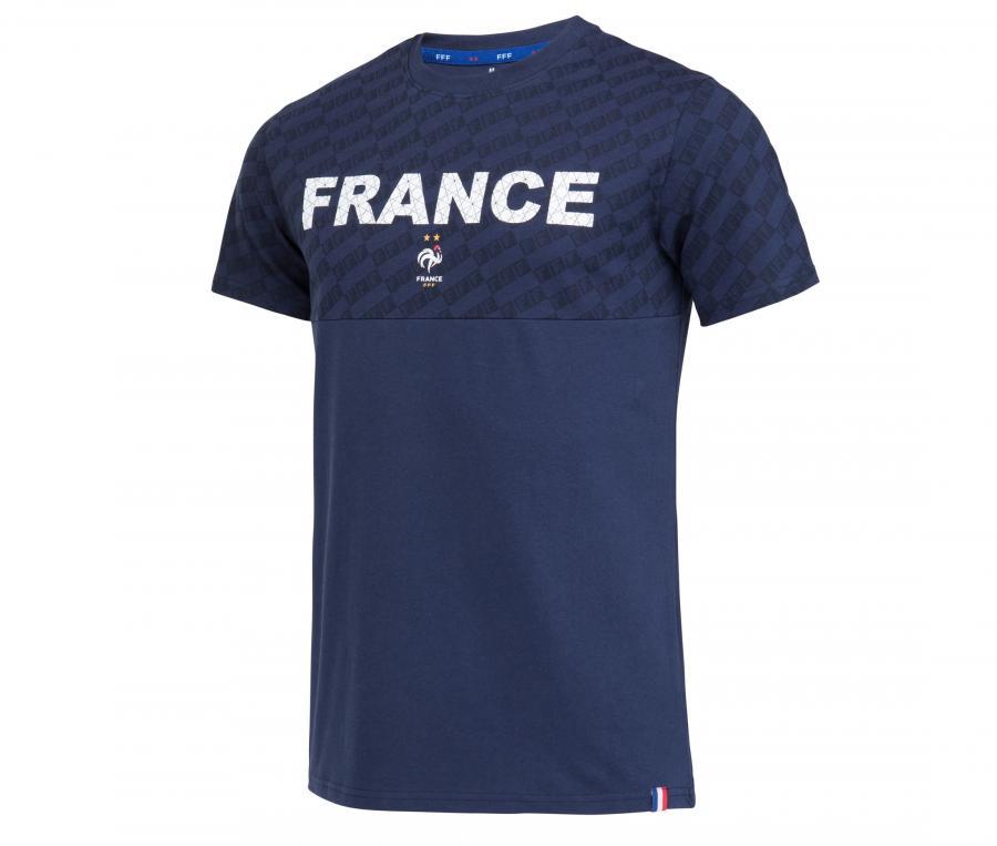 T-shirt France All Over Bleu