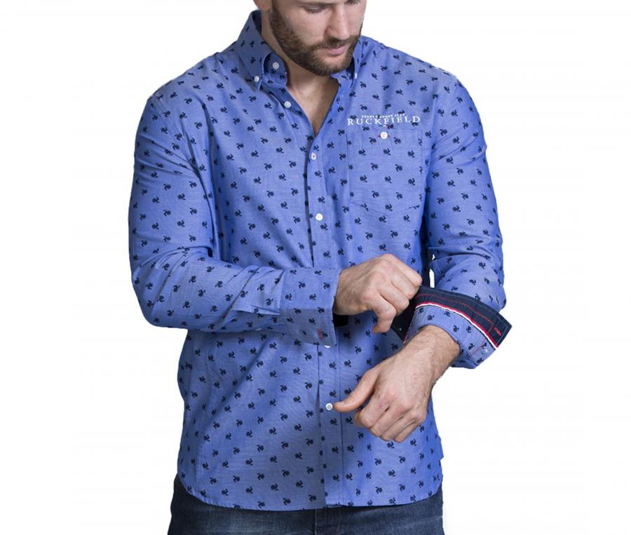 Chemise Manches Longues Ruckfield France Bleu
