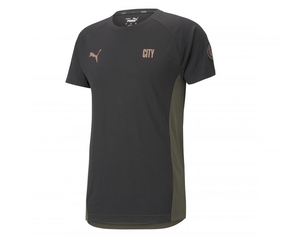 T-shirt Manchester City Evostripe Noir/Vert