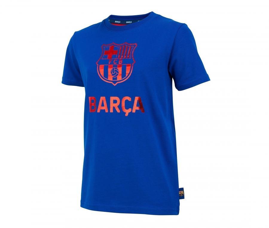 T-shirt Barça Logo Bleu Junior