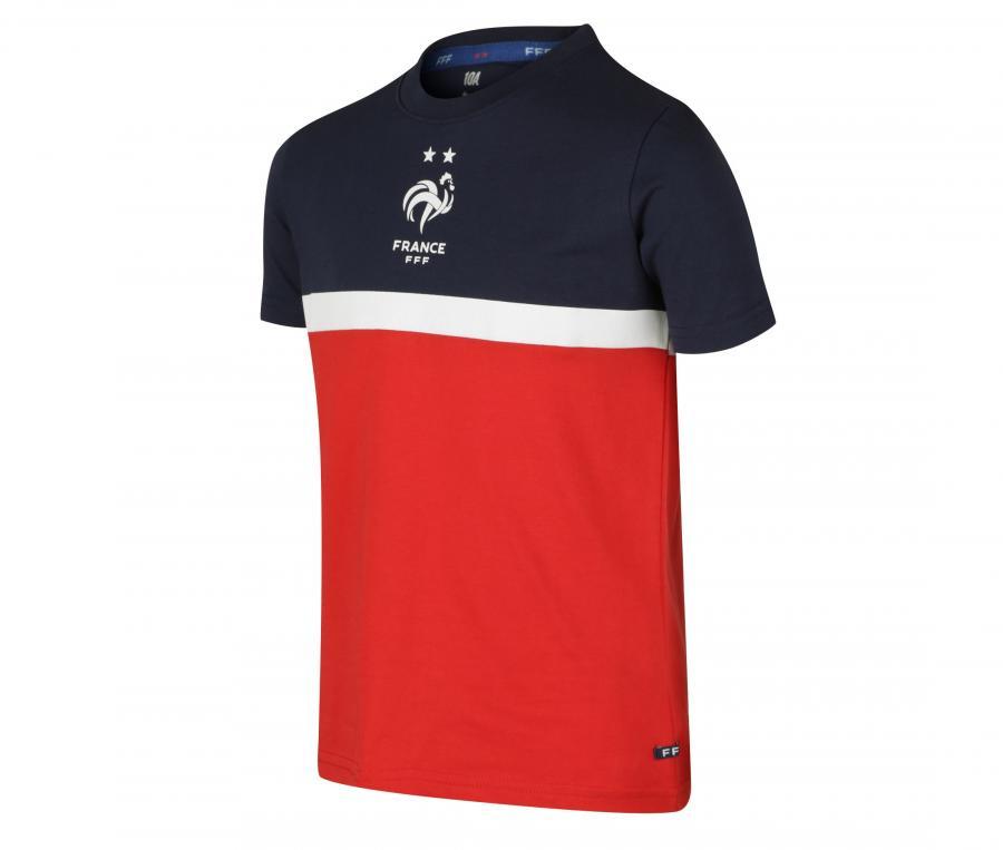 T-shirt France Tricolore Rouge/Bleu Junior