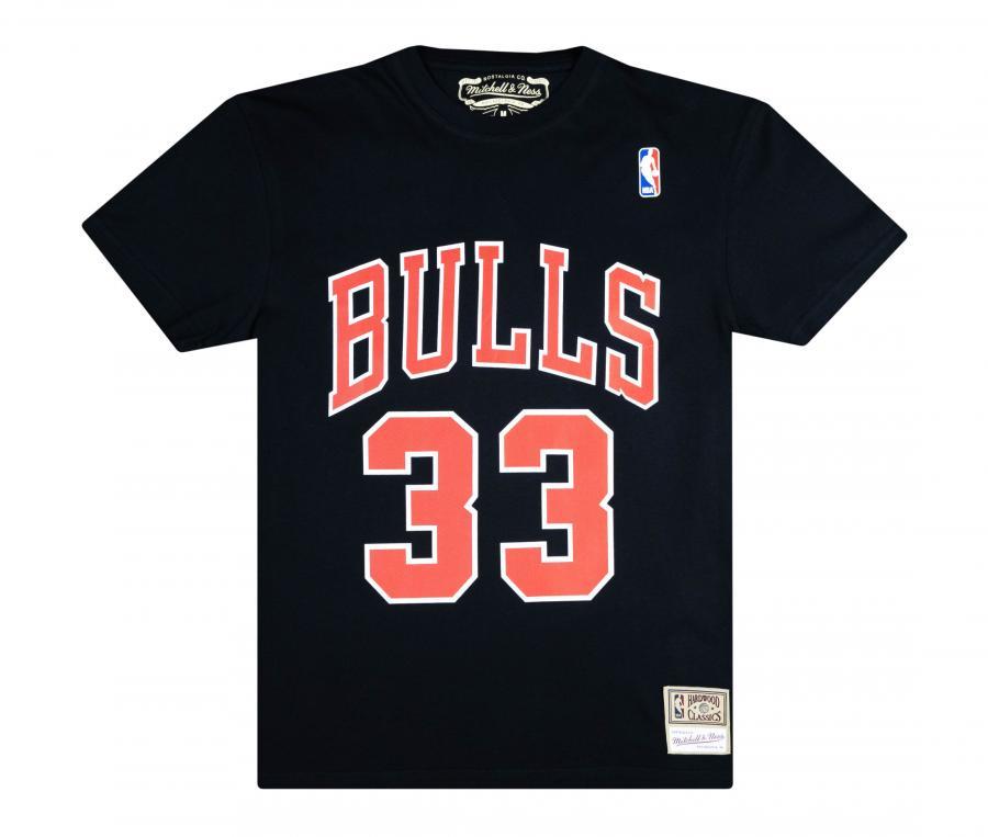 T-shirt Chicago Bulls Pippen Noir