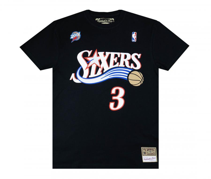 T-shirt 76ers de Philadelphie Noir