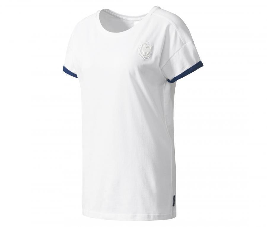 T-shirt Rugby France FFR Femme Blanc