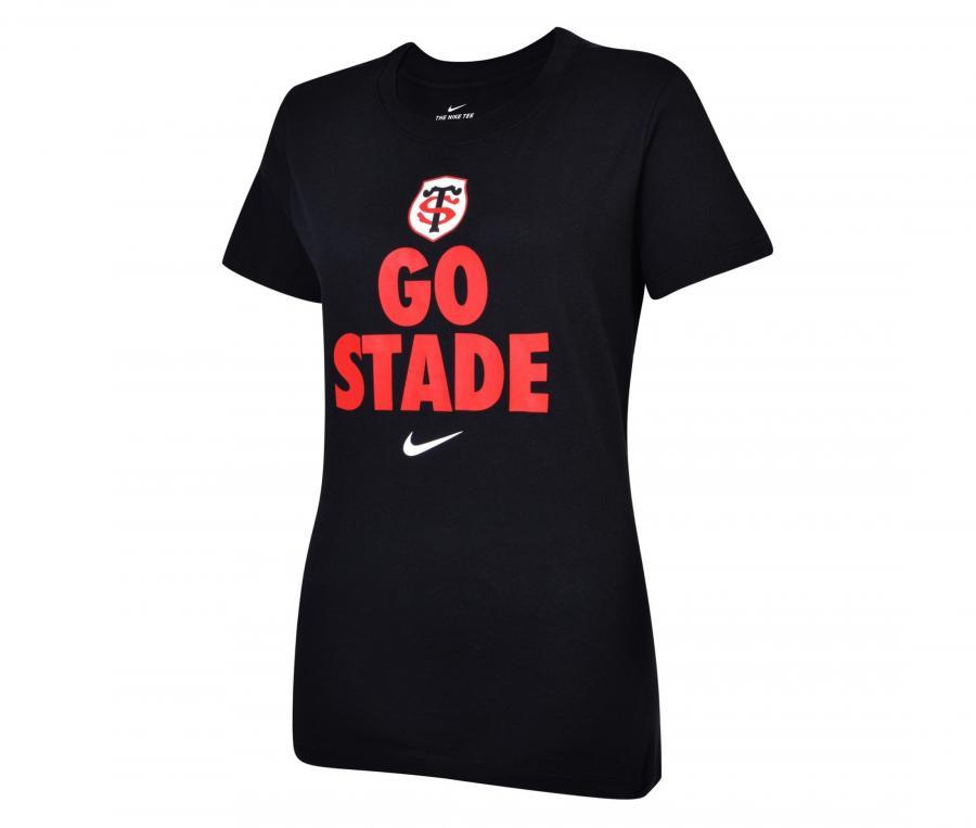 T-shirt Stade Toulousain Noir Femme