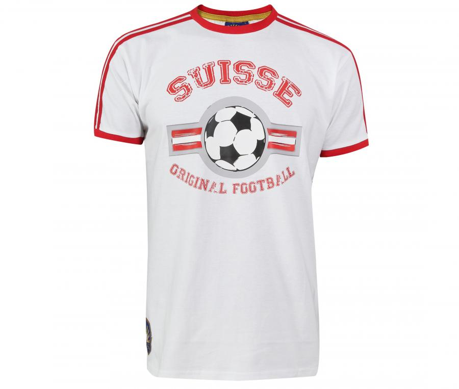T-Shirt College Suisse Blanc