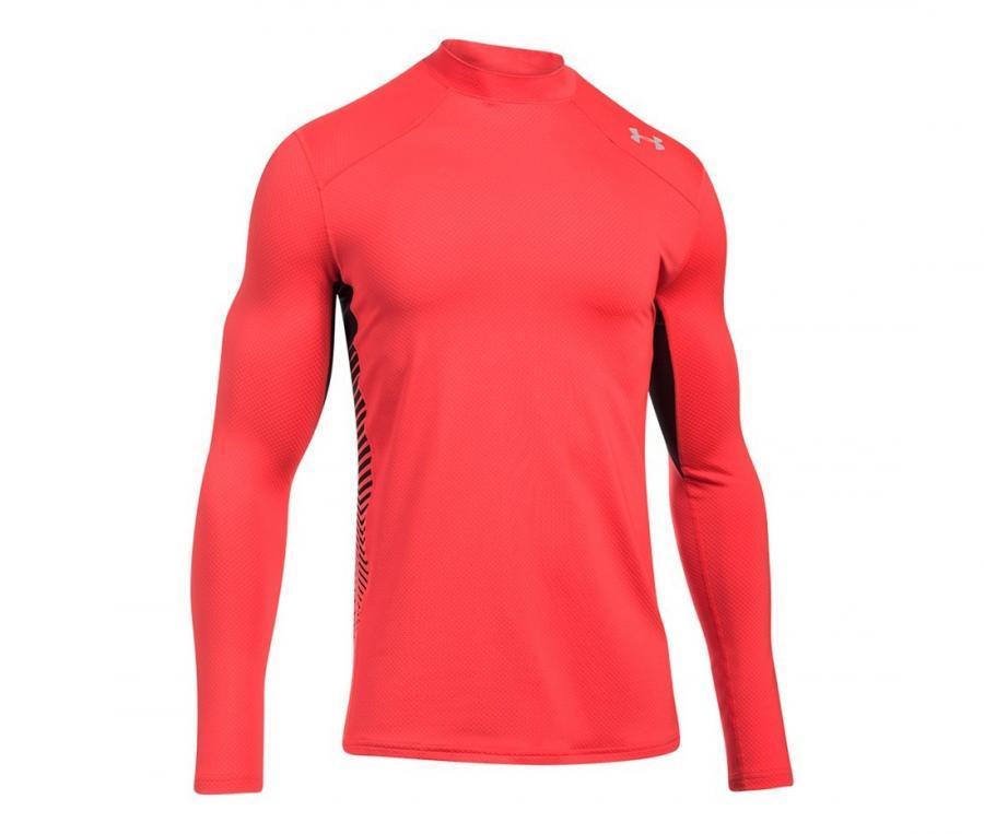 Tee-shirt de compression ColdGear® Reactor manches longues Rouge
