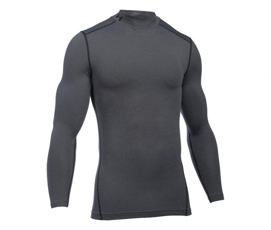 Tee-shirt ColdGear Col Turtle Compression Gris