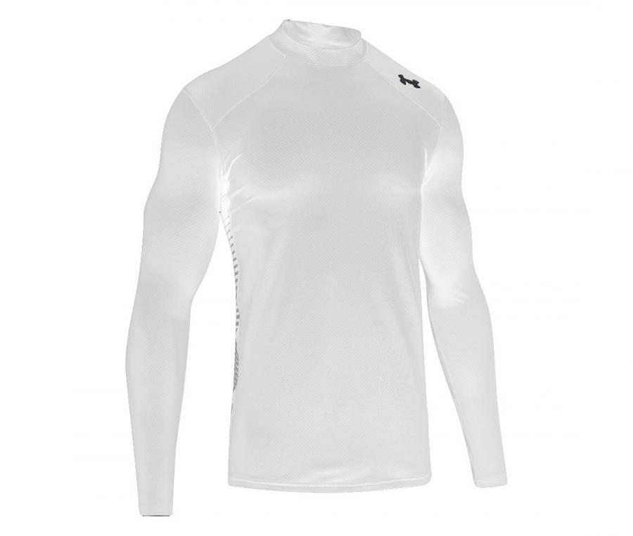 Tee-shirt de compression ColdGear® Reactor manches longues Blanc