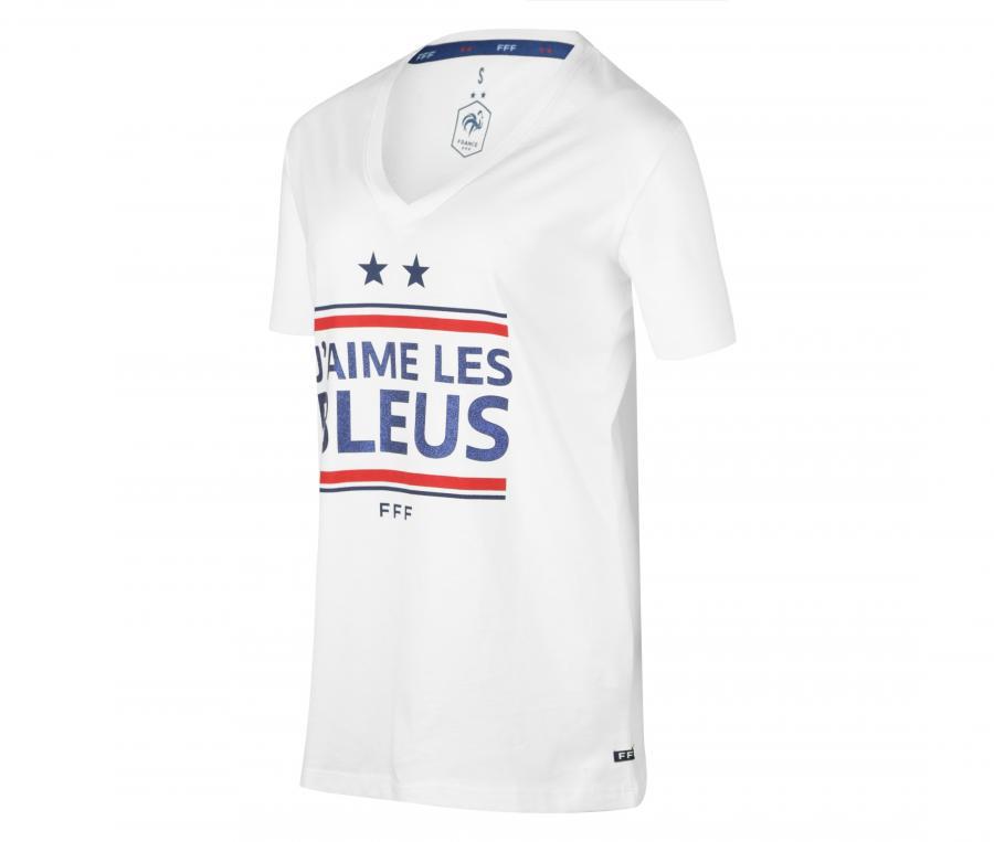 T-shirt France Slogan Blanc Femme