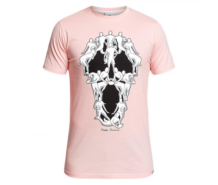 Tee-shirt Rugby Division Horror Rose