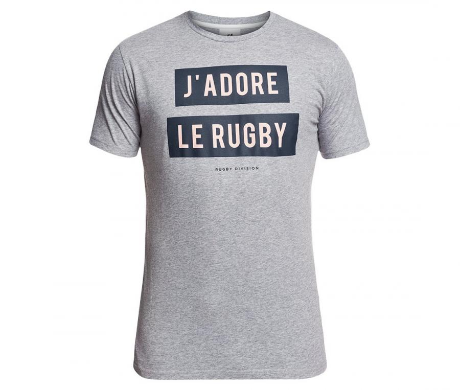 Tee-shirt Rugby Division Adore Gris