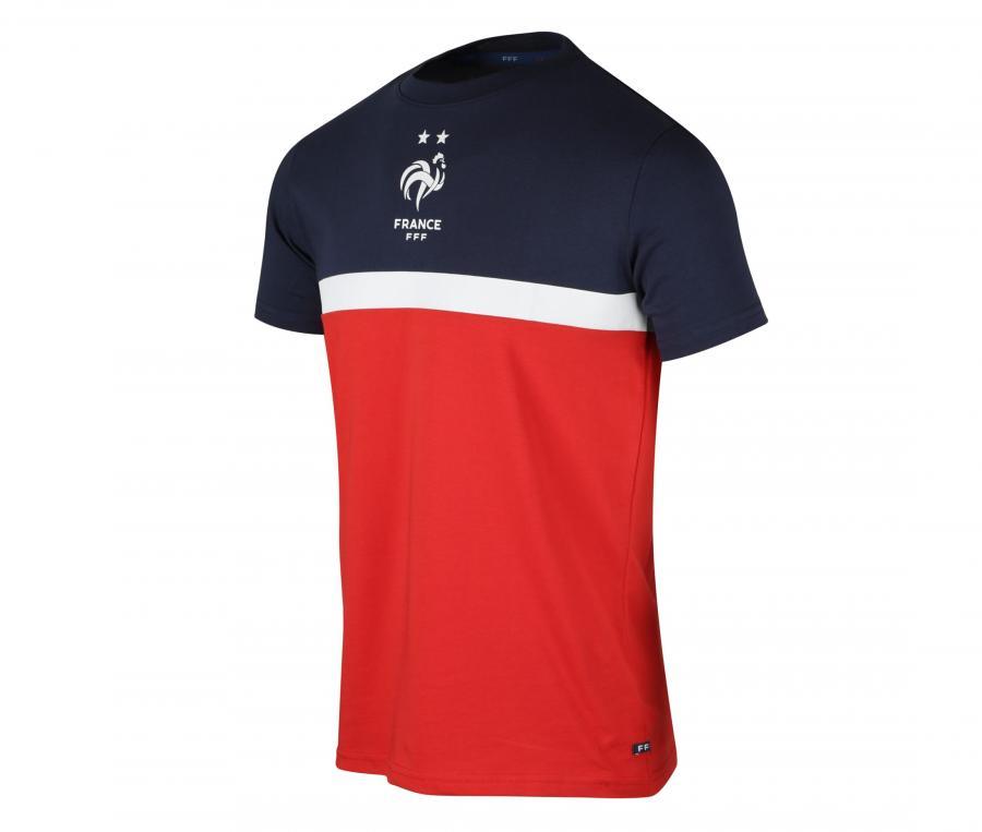 T-shirt France Tricolore Rouge/Bleu