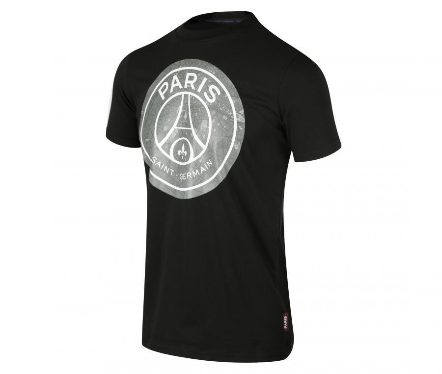 T-shirt PSG Big Logo Map Noir