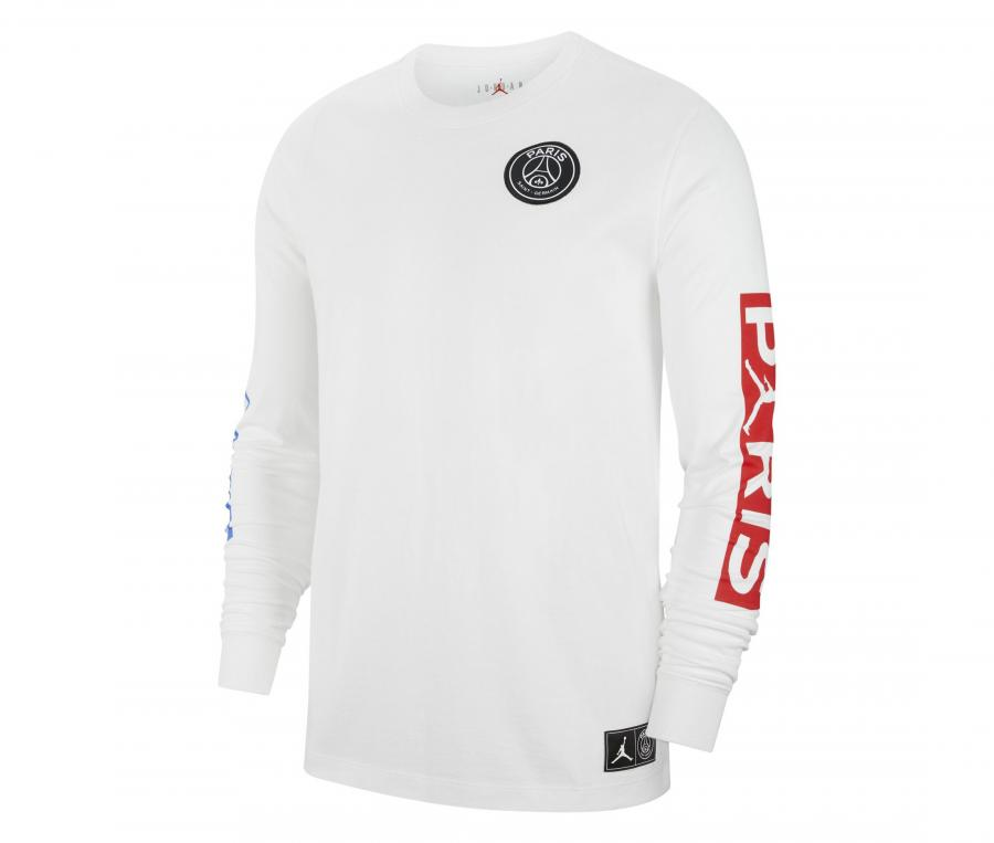 T-shirt Manches Longues Jordan x PSG Blanc