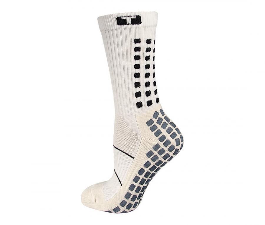 Chaussettes antidérapantes Mid-calf Thin blanc