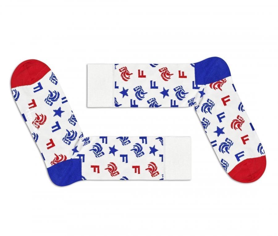 Paire de chaussettes Happy Socks France Blanc