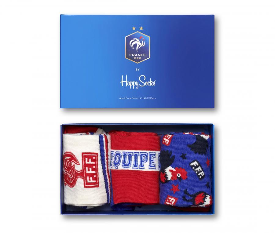 Lot de 3 Paires de chaussettes France x Happy Socks Bleu/Blanc/Rouge