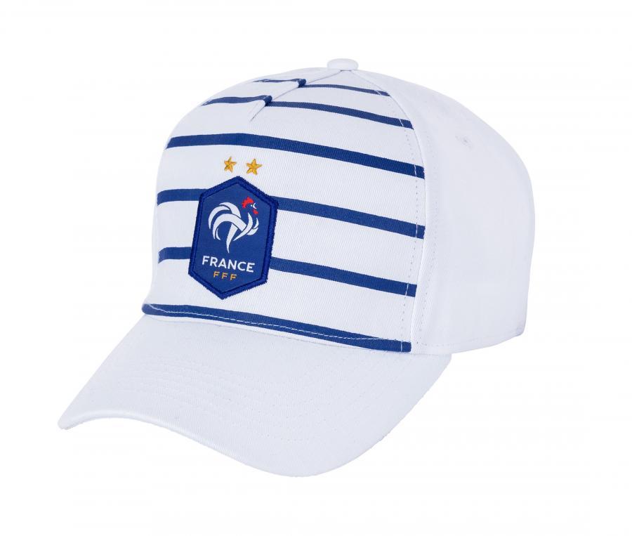 Casquette France Fan Blanc/Bleu Mixte