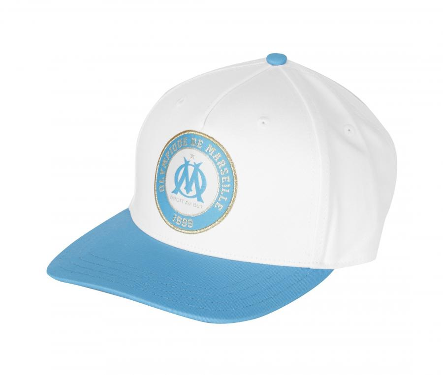 Casquette OM Fan Blanc/Bleu Junior