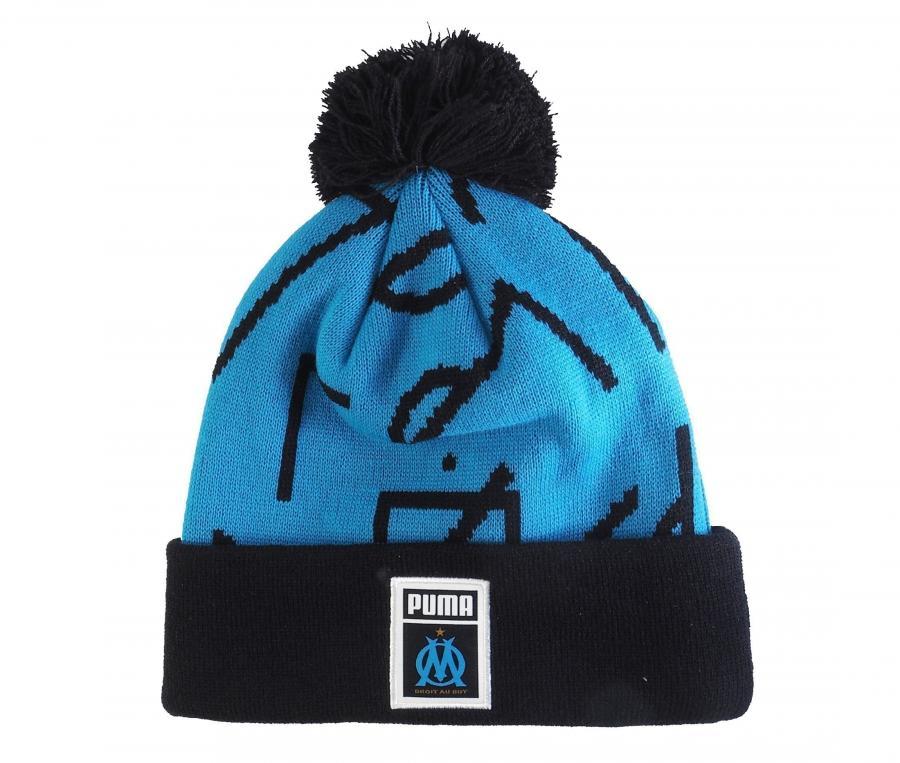 Bonnet OM Pompon DNA Bleu/Noir