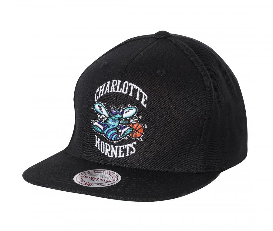 Casquette Mitchell & Ness Hornets de Charlotte Noir
