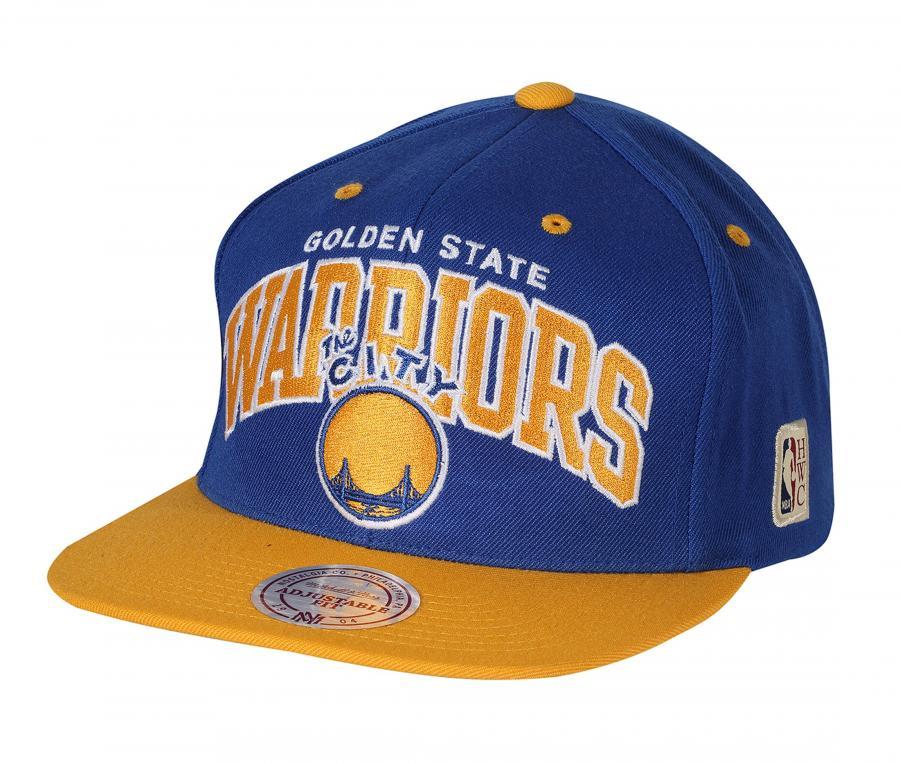 Casquette Mitchell & Ness Golden State Warriors Team Bleu/Jaune