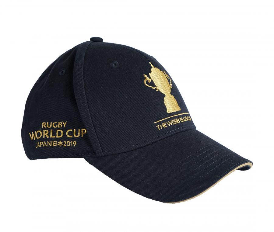 Casquette Trophée Webb Ellis Coupe du Monde de Rugby 2019 Bleu