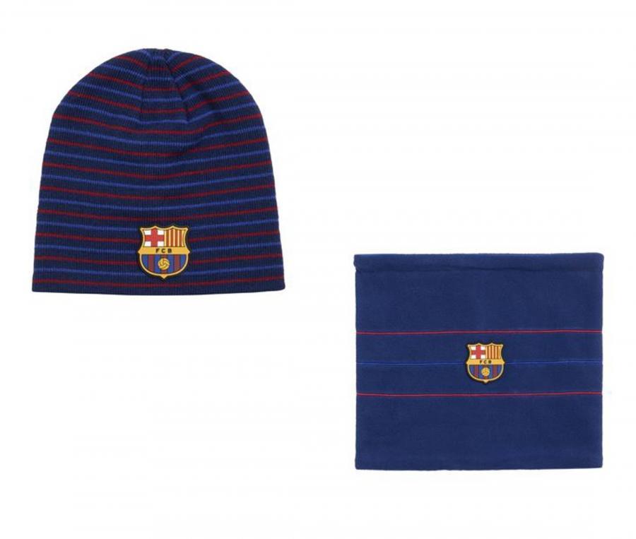 Coffret Bonnet + Cache-cou Barça Bleu