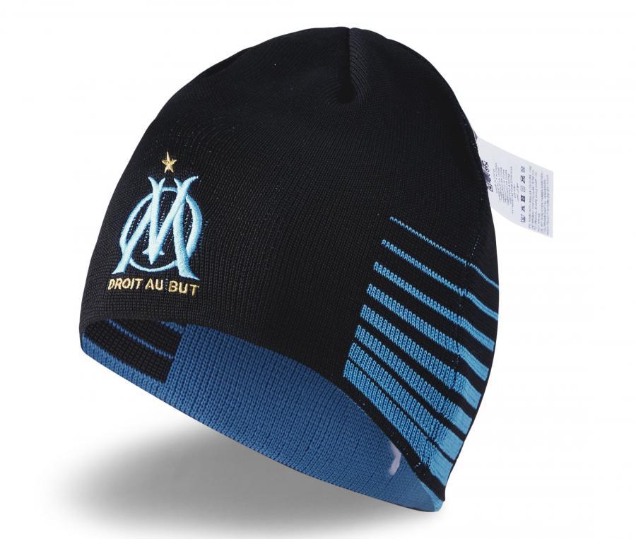 Bonnet Réversible OM Bleu