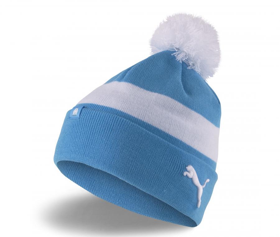 Bonnet Pompon OM Bleu