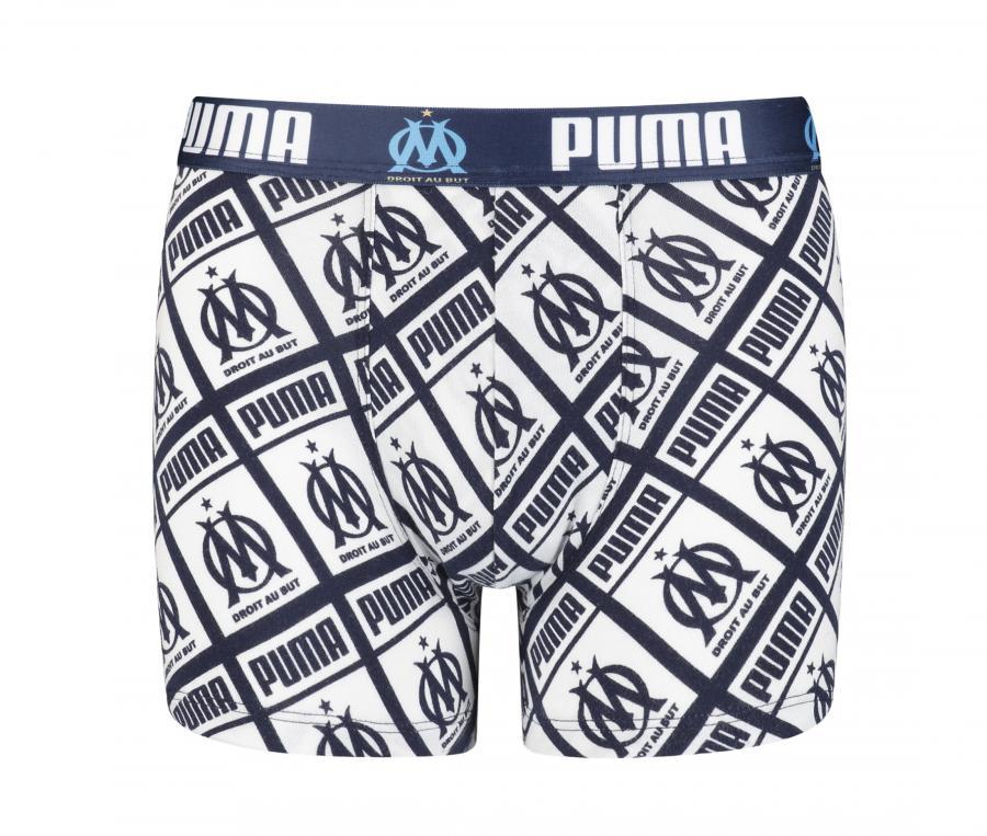 OM All Over Kid's Boxer Shorts White/Blue