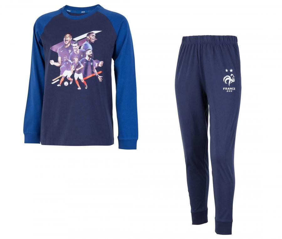 Pyjama France Joueurs Bleu Junior