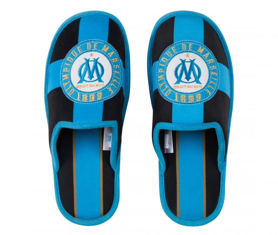 Pantoufles OM Fan Bleu/Noir Junior