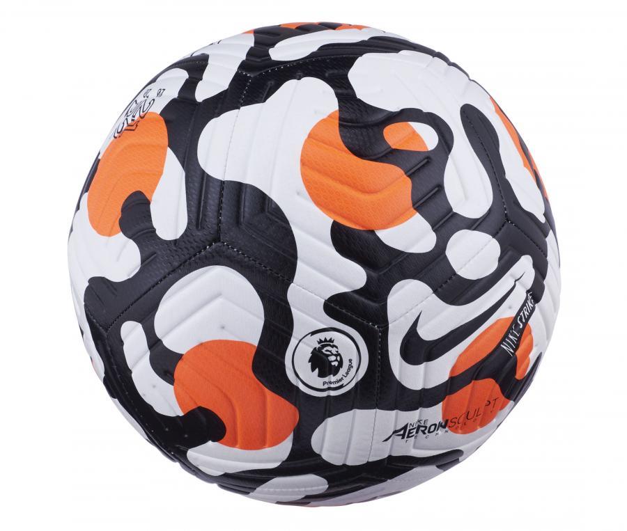 Ballon Nike Premier League Strike T.5 Blanc/Noir/Orange