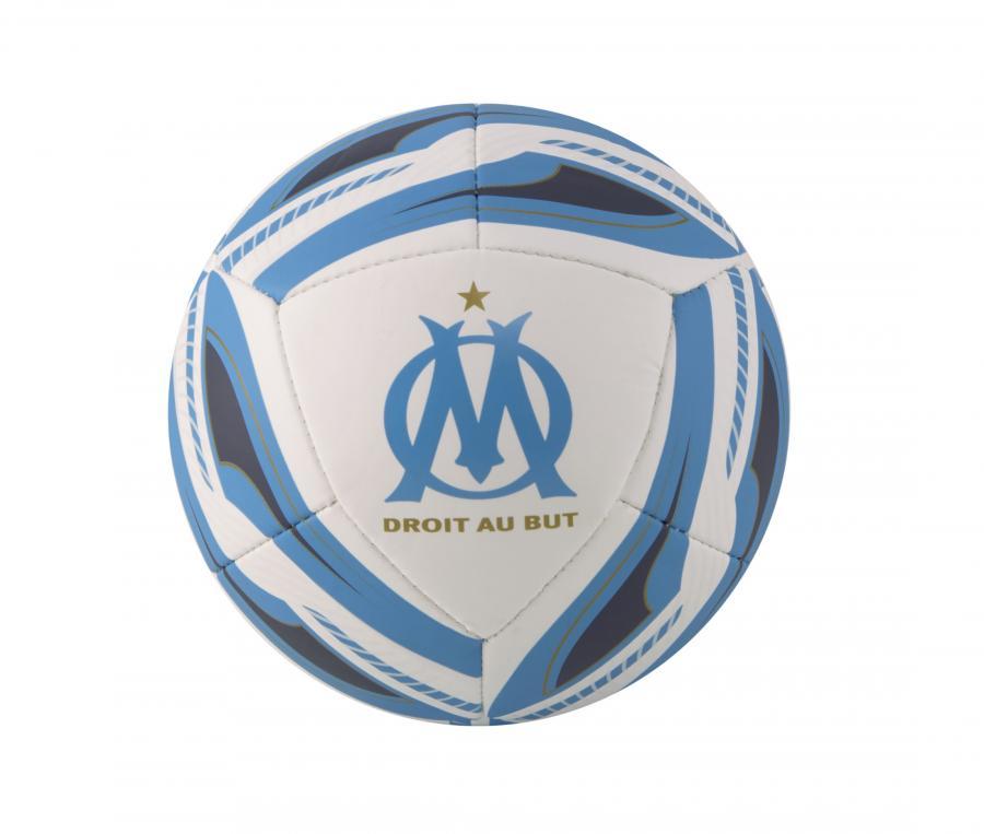 Mini balón de fútbol OM Icon T.1 Blanco/Azul
