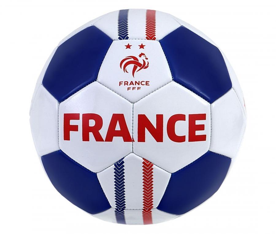 Ballon France Action T.5 Blanc/Bleu