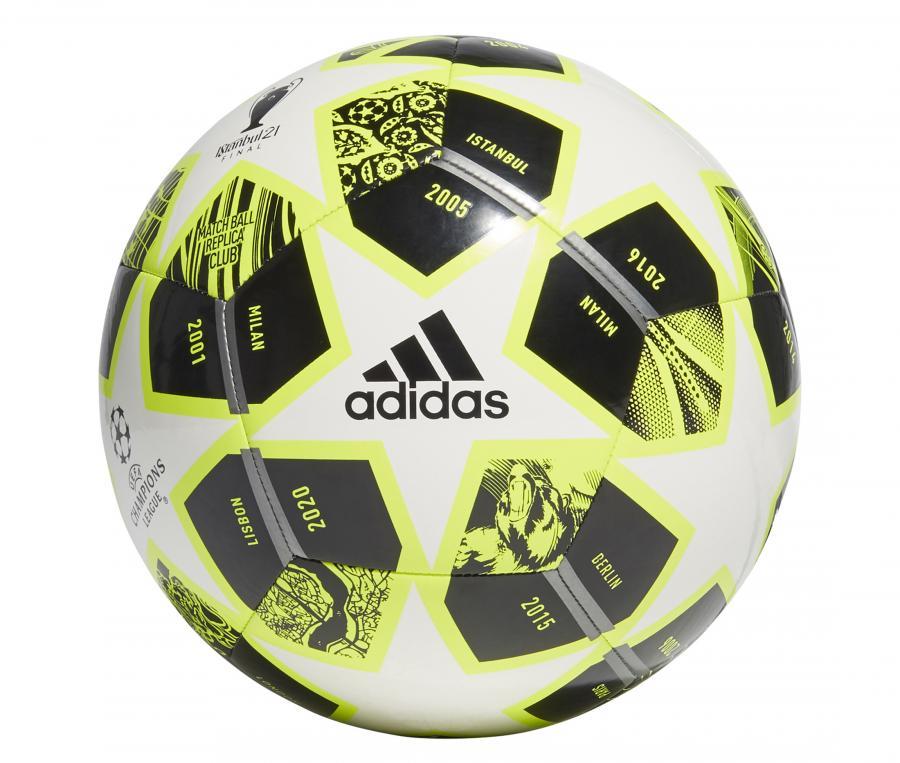 Ballon Replica adidas UEFA Champions League Finale 21, 20ème Anniversaire T.5 Blanc/Noir