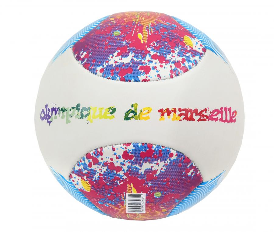 Balón OM Beach Soccer T.5 Blanco