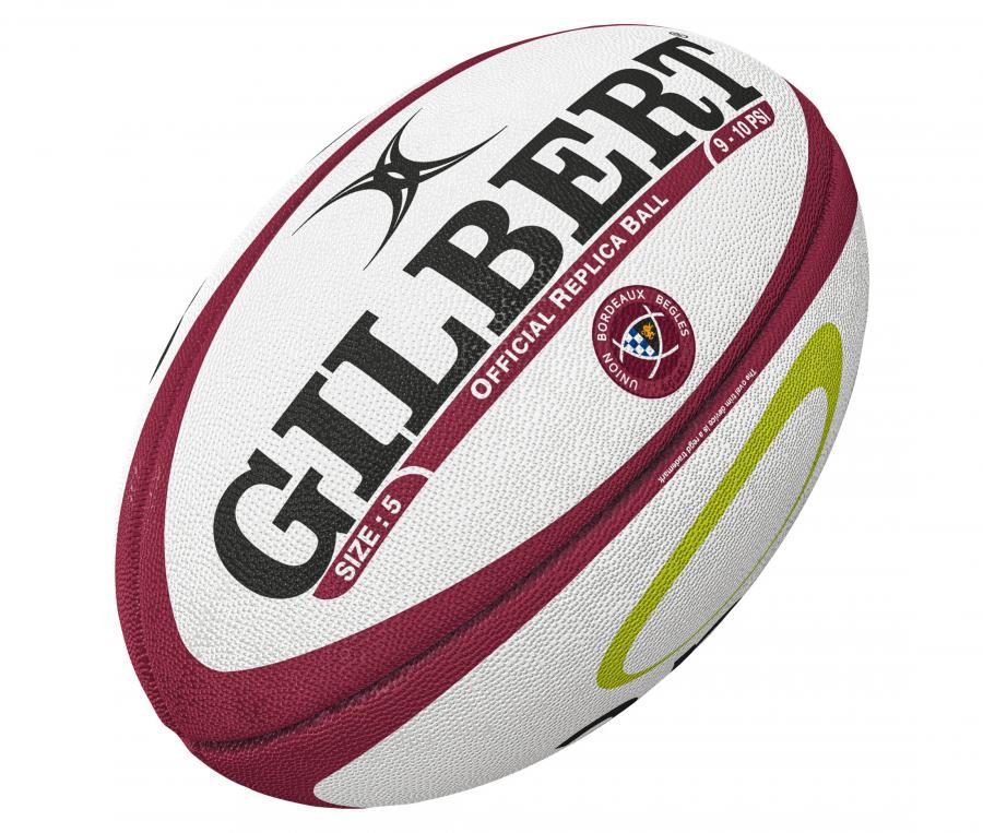 Ballon Gilbert Union Bordeaux Bègles Replica T.5 Blanc/Rouge