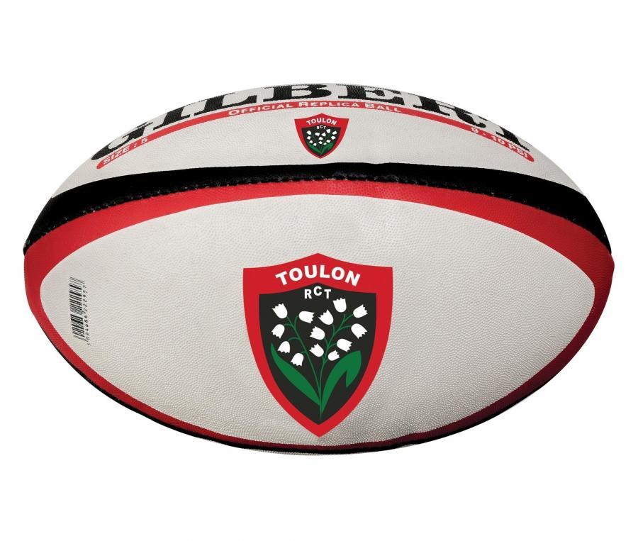 Ballon Replica Gilbert RC Toulon T.5 Blanc