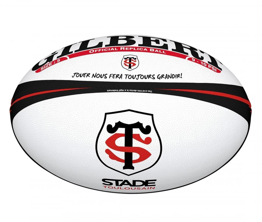 Mini ballon Gilbert Replica Stade Toulousain T.1 Blanc