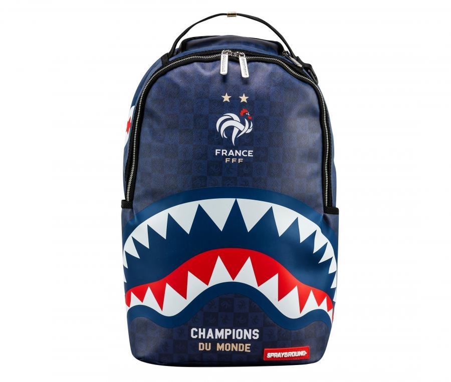 Sac à dos Sprayground France Sharks Camo Bleu